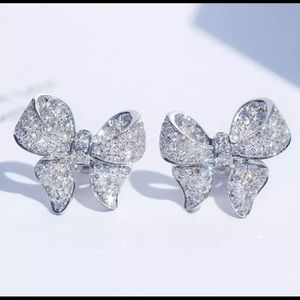 925 Sterling Silver Plated Ribbon Earring